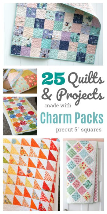 """Ideas for using Charm Packs - pre-cut 5"""" fabric squares"""
