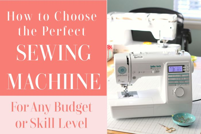 Tips for picking a new sewing machine