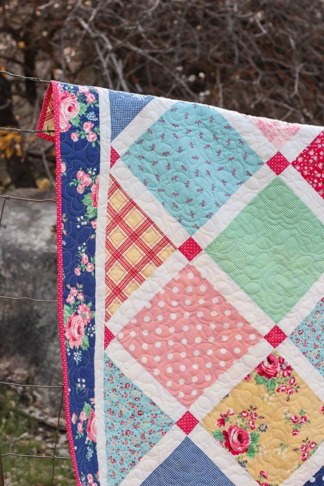 """Layer Cake (10"""" stacker) friendly quilt pattern - Lattice by Amy Smart"""