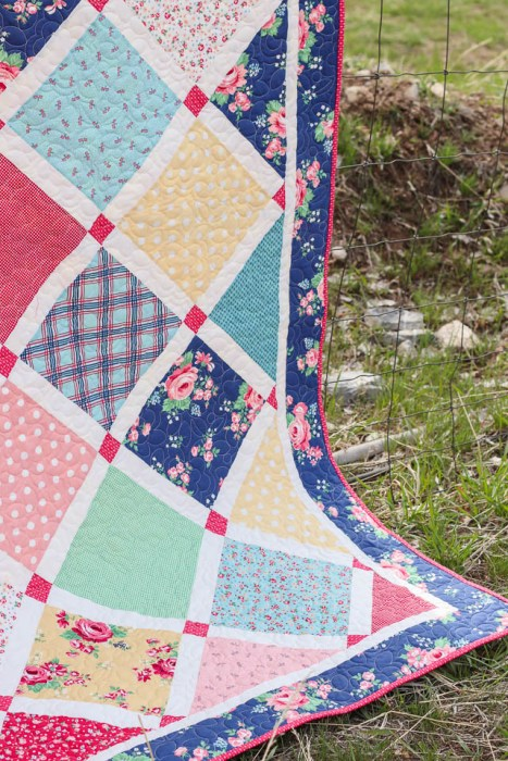 Lattice Quilt - Notting Hill Fabric collection by Amy Smart