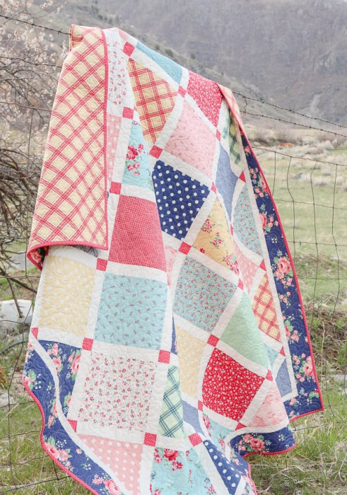 Layercake friendly Lattice Quilt Pattern by Amy Smart