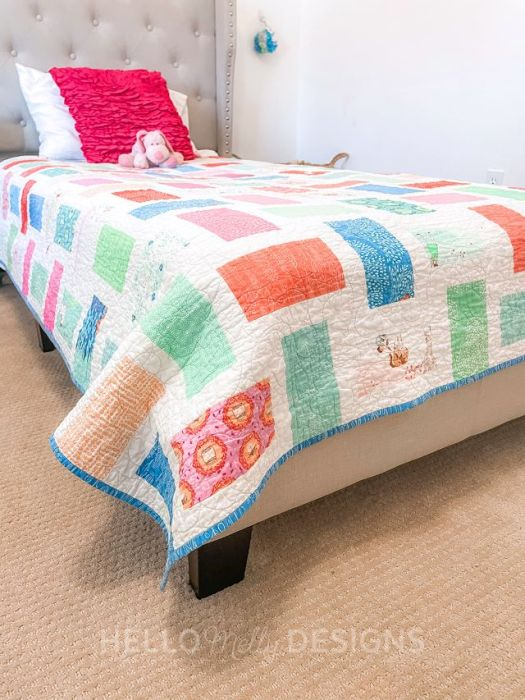 Tick Tock twin bed quilt pattern - designed by Cluck Cluck Sew