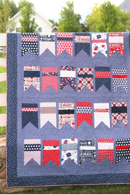 Red, White, and Blue Summer Bunting Quilt pattern by Amy Smart
