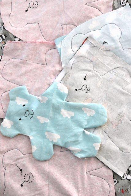 Charity sewing - Flannel Stuffed Bears