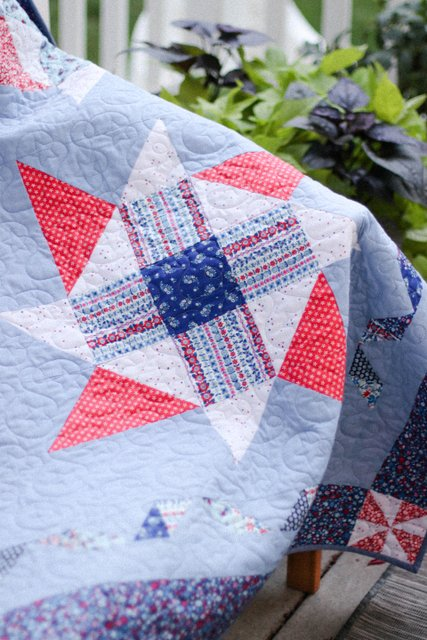 4th of July Quilt - Quilting by Sew Shabby Quilting