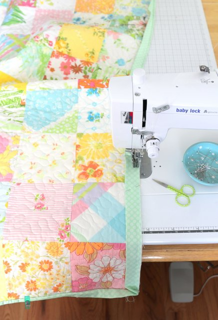 Sewing on a Binding with a Baby Lock Straight Stitch machine