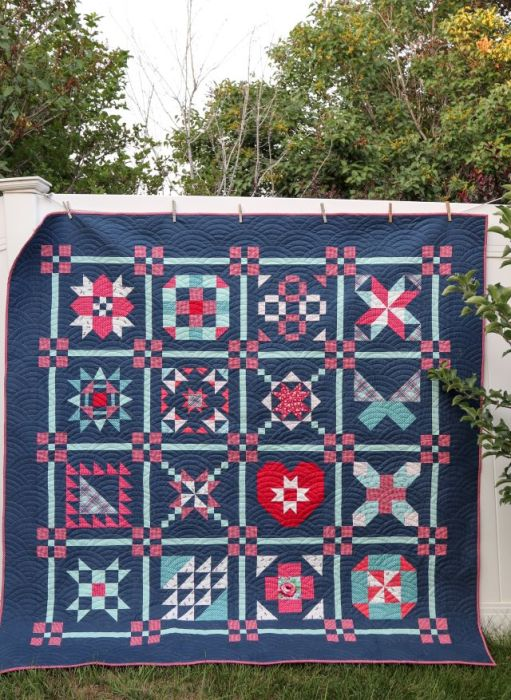 Free Sampler Quilt Pattern from Riley Blake Designs