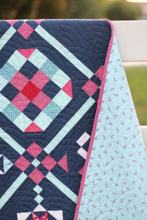 Sampler Quilt made with Notting Hill fabric