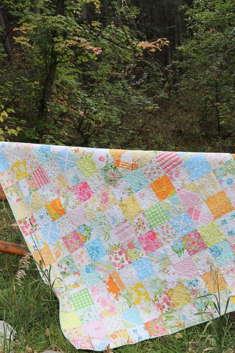 Patchwork Quilt made from Vintage Linens and Sheets