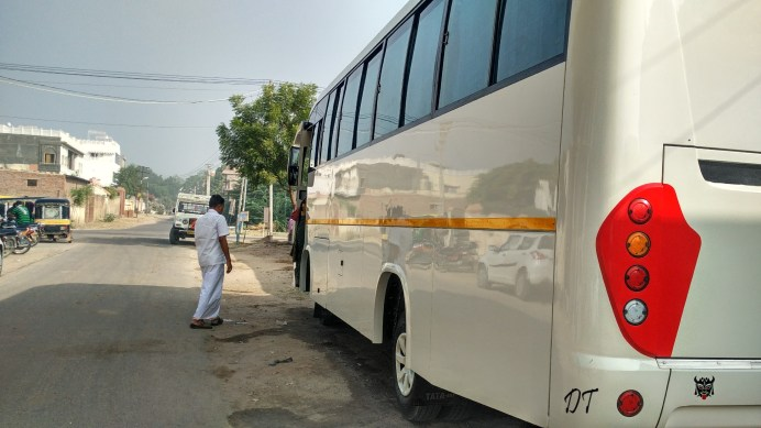 OUR BUS, THROUGH WHICH WE TRAVELLED ACROSS RAJASTHAN