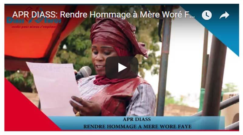 PUBLI-REPORTAGE : Apr diass, Rendre Hommage à Mère Woré FAYE