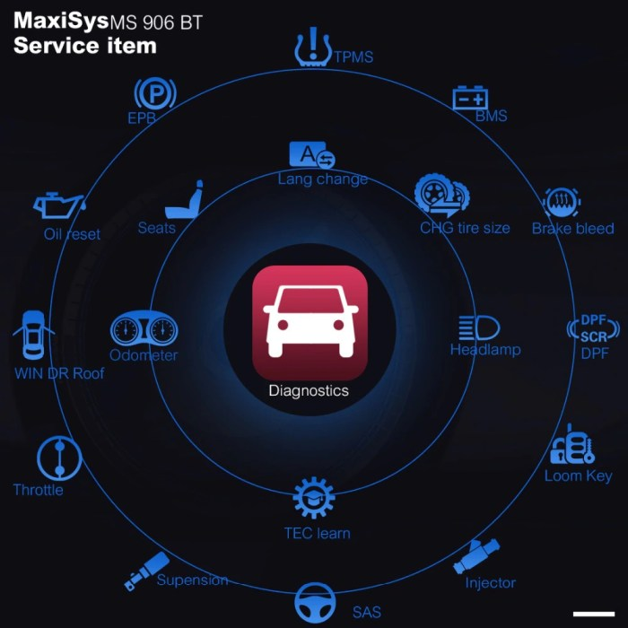 AUTEL MaxiSys MS906BT Advanced Diagnostic Device Functions