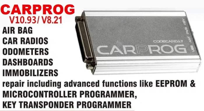 VXSCAN CARPROG Full Set V10.93 With 21 Adapters