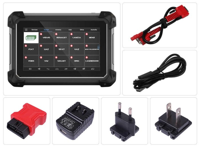 XTOOL EZ300 Pro 5 System Automotive Diagnostic Tool Package List