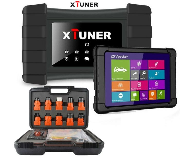 XTUNER T1 HD Heavy Duty Trucks Diagnostic Tool + Tablet Package List