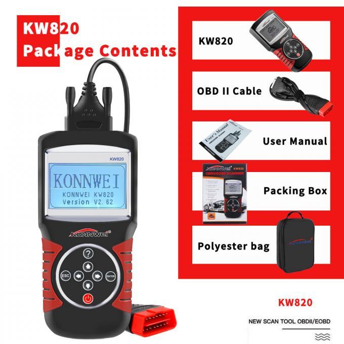 KONNWEI KW820 OBDII EOBD CODE READER SCANNER PACKAGE