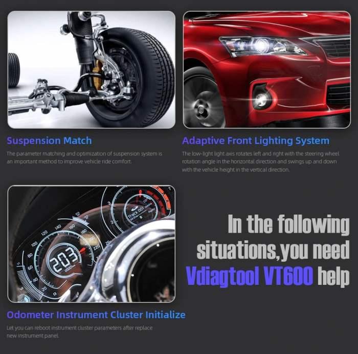VDIAGTOOL VT600 Car Service Diagnostic Tool Functions 5