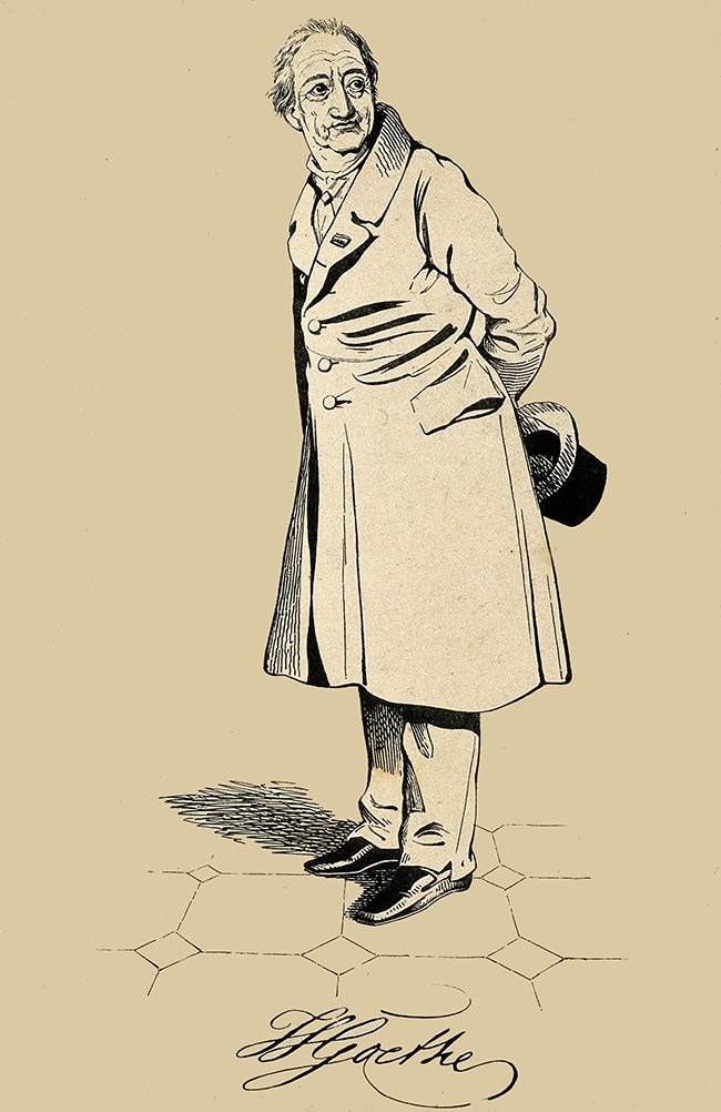Johann Wolfgang von Goethe. Lithograph by D. Maclise, 1832. Plate