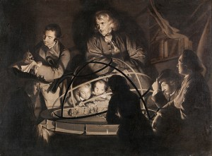 Philosopher Giving a Lecture on the Orrery. Plate
