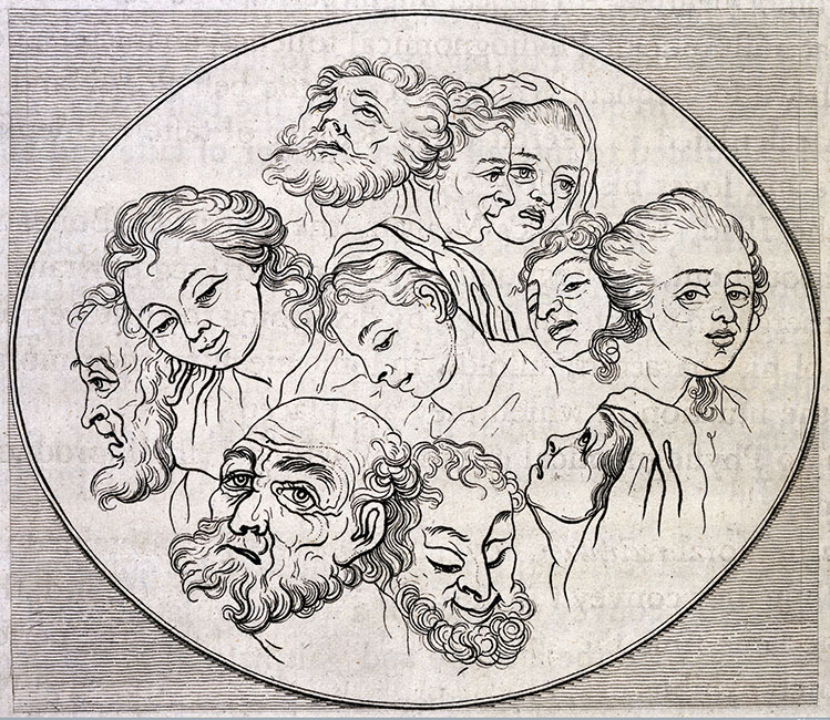 Lavater, Essays on Physiognomy, 1789-1798. Image