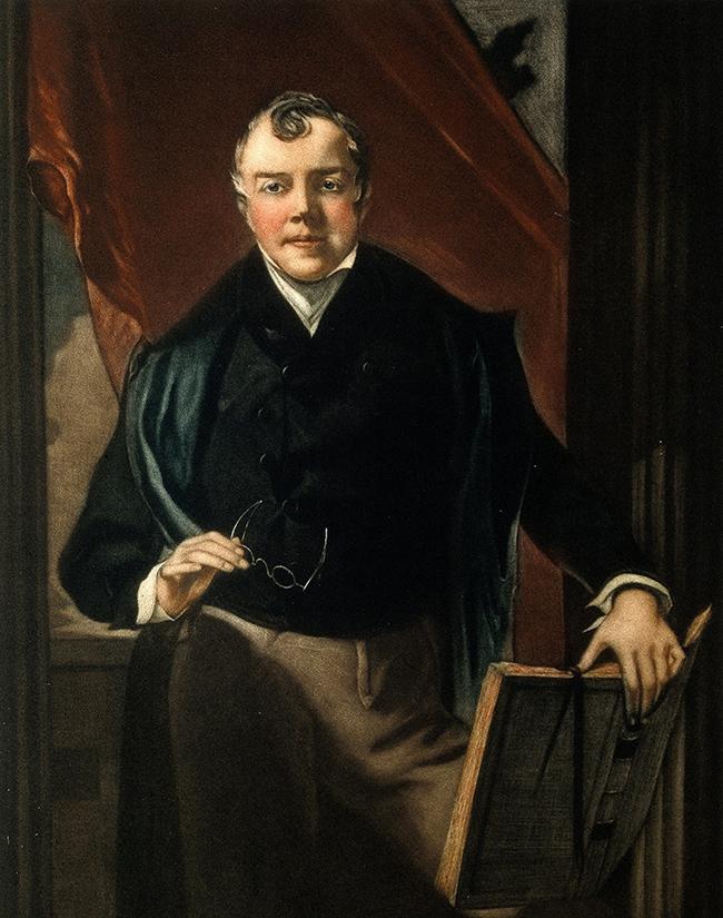 Charles Bell. Colour mezzotint.