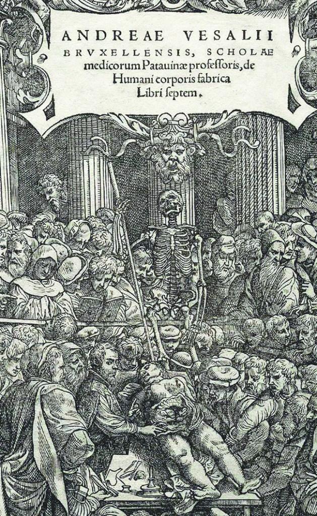 Frontispiece:de Humani corporis fabrica Libri septem, image