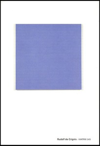 Rudolf de Crignis: One Painting, brochure