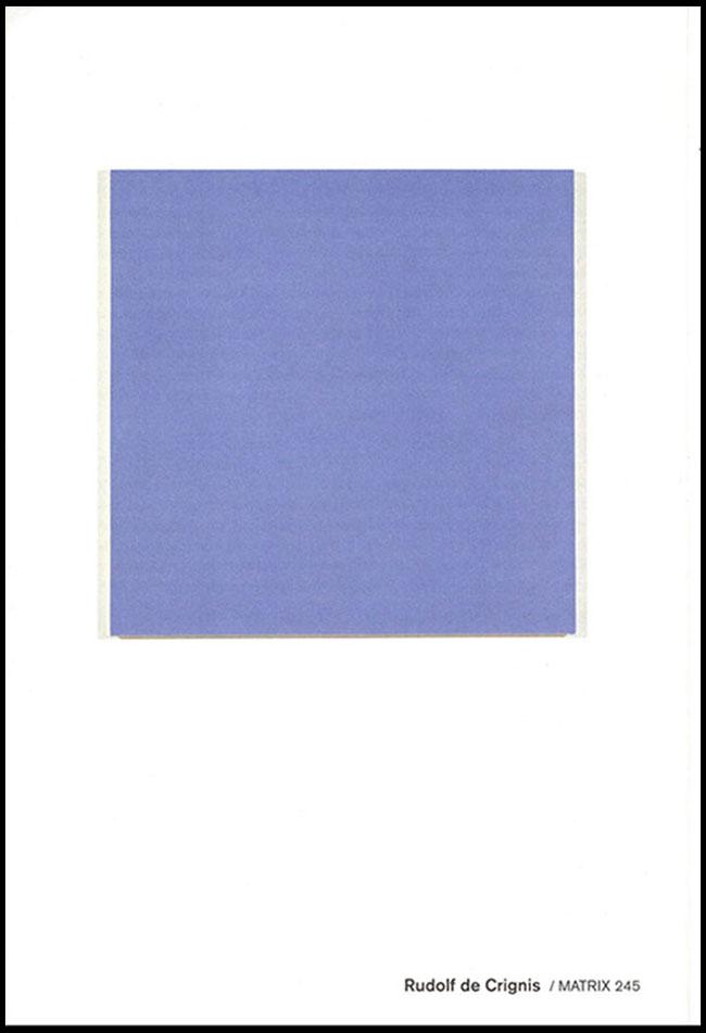 Rudolf de Crignis: One Painting, brochure