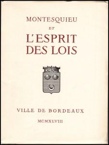 MONTESQUIEU et l'Esprit des Lois: Exposition, book cover