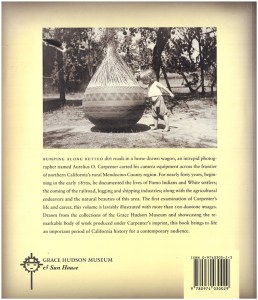 Aurelius O. Carpenter: Photographer of the Mendocino Frontier, back cover