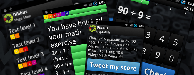 MegaMath, new Android app