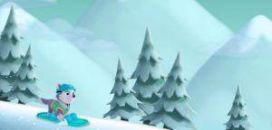 juego patrulla snow slide