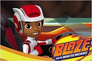 personaje de AJ blaze monster machines