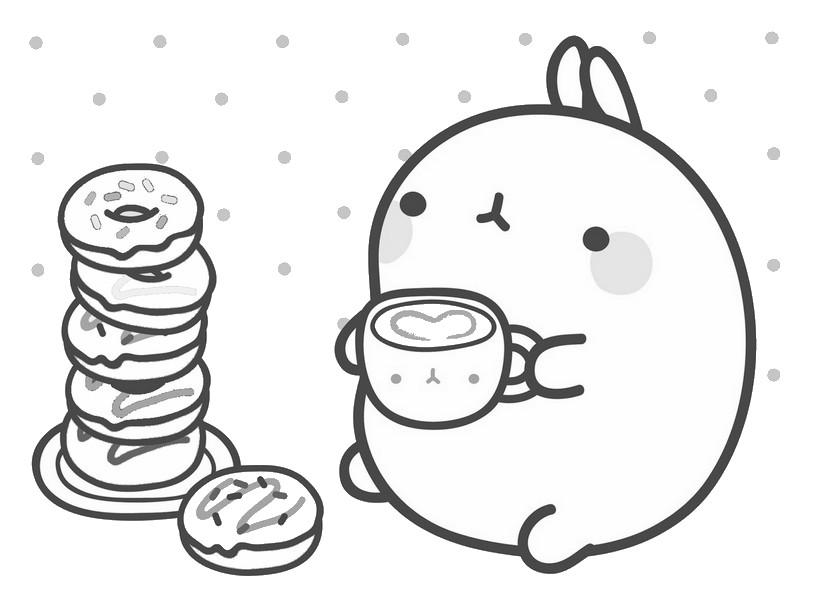 molang comiendo