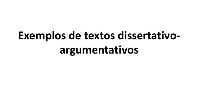 Exemplos de Textos Dissertativos Argumentativos Enem
