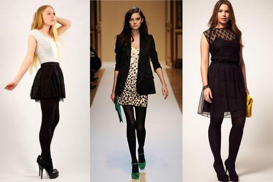 meia preta10 Meia calça preta é peça chave para os dias frios