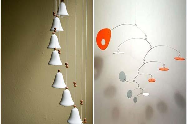 mobiles pendentes na decoracao1 Móbiles e pendentes na decoração