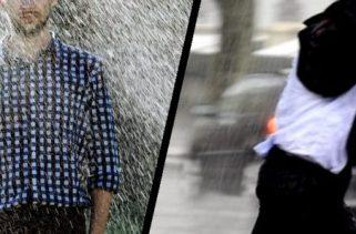 Ficar parado ou correr? Qual deles o deixará melhor na chuva?