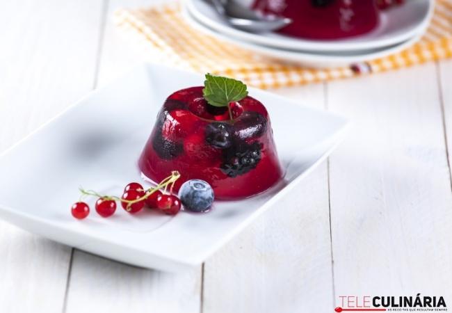 gelatina antioxidante vermelha
