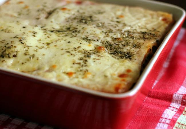 lasanha de pao de forma de queijo e presunto