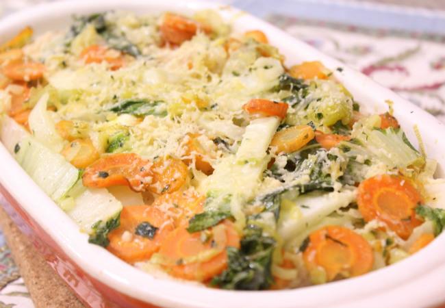 lasanha de pao de forma vegetariana