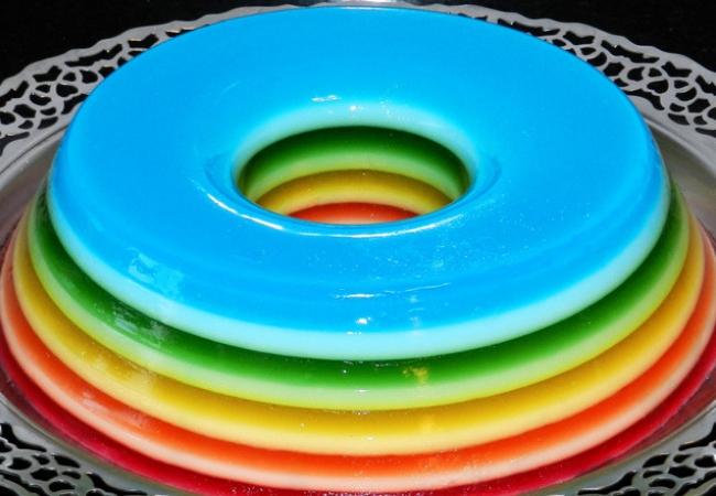 receitas sobremesas com gelatina arco-iris