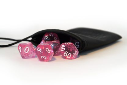 RPG Wuerfel Set Transparent Pink