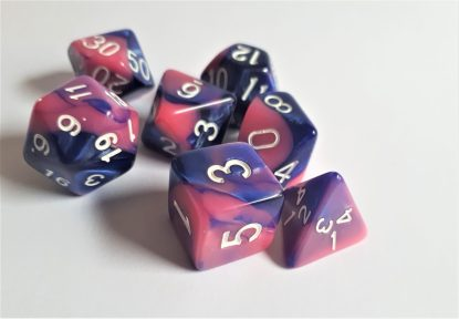 "RPG Wuerfel Set ""Pink Galaxy"""