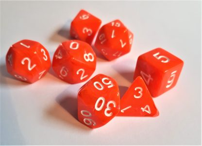 "RPG Wuerfel Set ""Candysweet Orange"""
