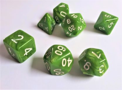 "RPG Wuerfel Set ""Candysweet Green"""