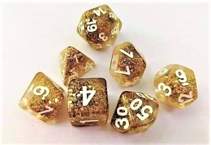 "RPG Wuerfel Set ""Goldeneyes"""