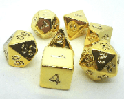 RPG Wuerfel Set Plated Gold