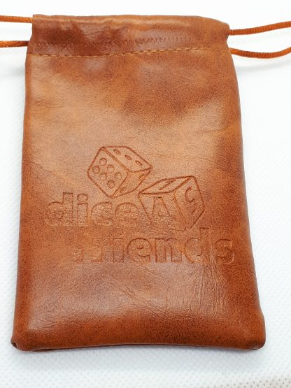 RPG Wuerfel Set Dice Bag mit Logo Brown