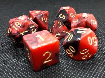 RPG Wuerfel Set Racing Red/Black